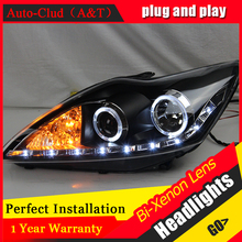 car styling For Ford Focus headlights U angel eyes DRL 2009 2011 For Ford Focus LED