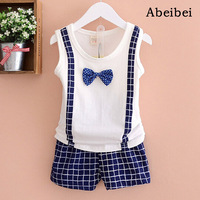 Retail 2016 Summer Style Infant Clothes Baby Clothing Sets Boy Or Girls Cotton Vest Sleeve 2pcs