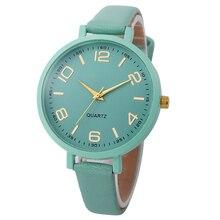 256ddd9ef312 Relojes de pulsera analógicos de cuarzo de imitación de cuero para mujer de  alta calidad(