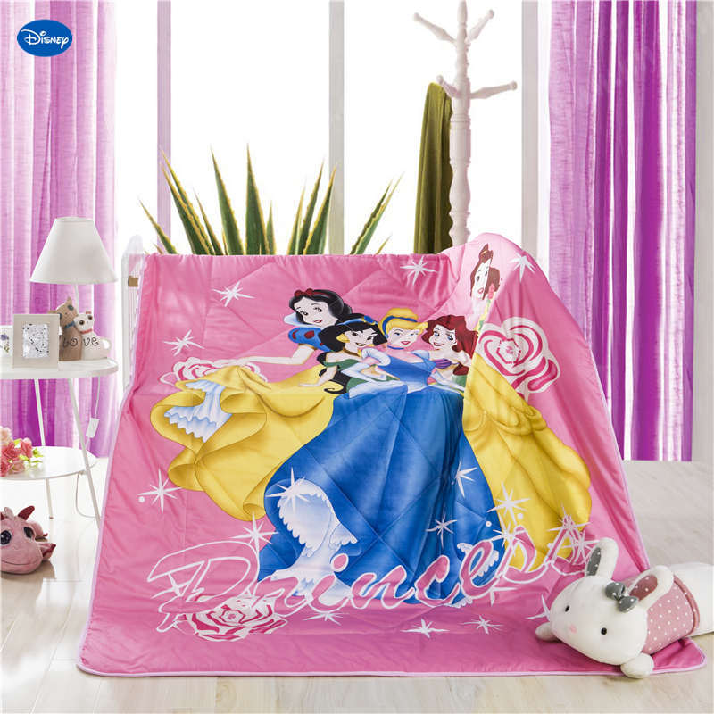 Pink Disney Fabric Princess Quilt Summer Comforter Bedding Cotton Bed Cover 3D Prints Cartoon Bedroom Decor Girls Childrens KidPink Disney Fabric Princess Quilt Summer Comforter Bedding Cotton Bed Cover 3D Prints Cartoon Bedroom Decor Girls Childrens Kid