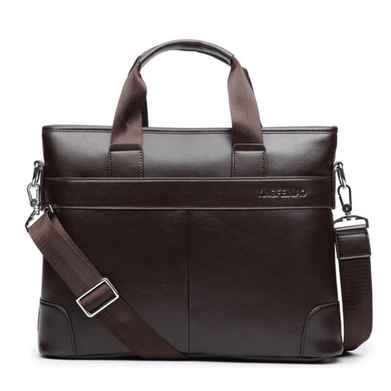 Men Casual Briefcase Business Shoulder Bag Leather Messenger Bags Computer Laptop Handbag Bag Men's Travel Bags  JIE-0149