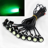 10 X 9W 18mm 12V 24V Green LED Eagle Eye Light Car Fog DRL Daytime Reverse