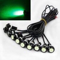 10 X 9W 18mm 12V 24V Green LED Eagle Eye Light Car Fog DRL Daytime Reverse