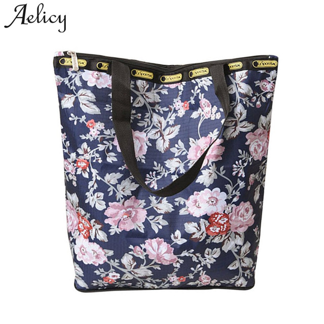 fa4de6b14 Aelicy Brand Casual Women Large Capacity Tote Canvas Shoulder Bag Vintage  Beach Bags Floral Printed Tote Feminina Shopping Bags