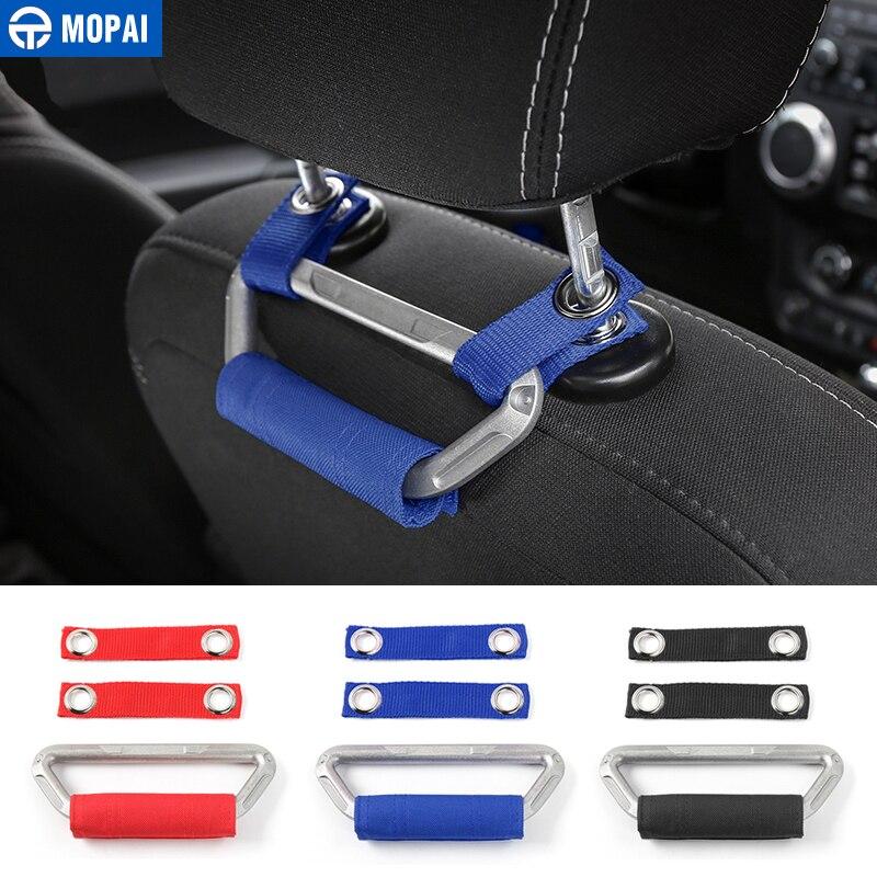 MOPAI-reposabrazos para asiento Interior de coche, manijas de agarre para reposacabezas, accesorios de coche para Jeep Wrangler JK 2013-2019