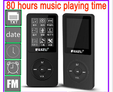 2017 New Arrive Ultrathin 4gb MP4 Player With 1.8 Inch Screen Can Play 80 hours,Original RUIZU X02 With FM,E-Book,Clock,Data