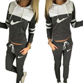 long sleeve jogging suits for women hoodies set sudaderas mujer 2016 2pcs jogging femme tracksuits moleton sweatshirt