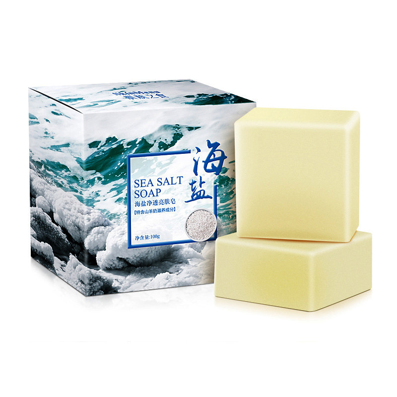 100g Sea Salt Handmade Soap Face Body Cleaner Removal Pimple Acne Treatment Skin Care Whitening Soap Blanqueador Piel Jabones