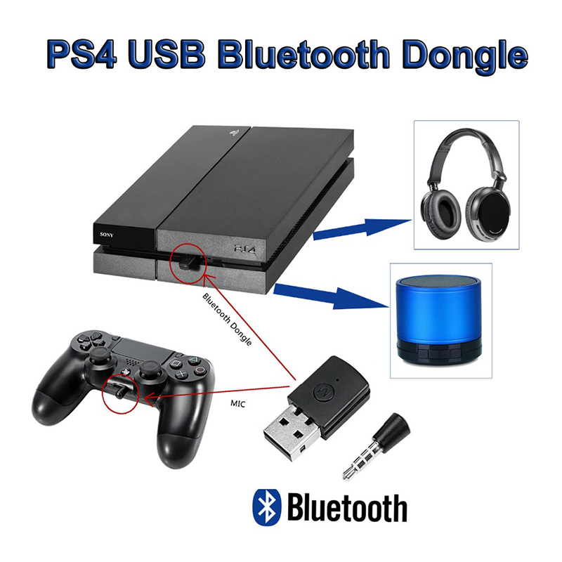 US $13 99 |ihens5 Wireless Bluetooth Headset Headphone Adapter with Mic  Bluetooth 4 0 adapter PS4 USB adapter USB Dongle For PS4 Xbox one-in  Wireless