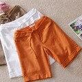 M-4XL Plus Size Lençóis de Algodão Solta 2015 Verão Nova Shorts Mulheres Curto Feminino Casual Roupas Femininas Senhoras Calções Cores Dos Doces