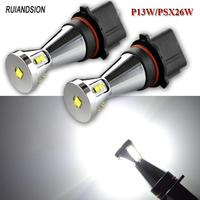 Pair 48W Car led PS19W PSX24W P13W H15 XBD chips 9SMD LED Auto Fog Lamp Car Bulb 6000K Driving Lamp 12V 24V white