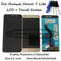 Preto/branco/ouro para huawei honor 7 lite nem-l21 display lcd + montagem digitador da tela de toque do smartphone + ferramentas gratuitas