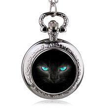 Серебряный милый красочный Симпатичные желтый кот цепи карманные часы ожерелье оптовый покупатель низкая цена antibrittle леди женщин девушки