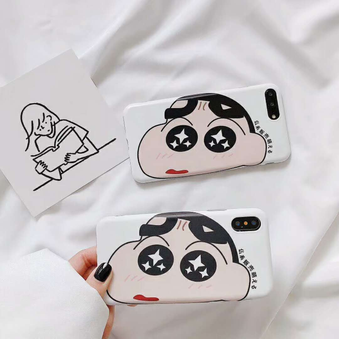 For iPhone 6 6s 7 8 Plus Summer Leisure Cartoon Character Crayon Shin Chan Fatty Acting Cute For IPhone X Soft Shell Case Cover