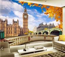 b66cae752 3D لندن بيغ بن خلفيات جدارية المنزل الفن جداريات حائطية صائق للتلفزيون  خلفية مطعم HD المطبوعة ورق حائط لفة تخصيص