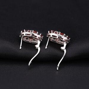 Image 5 - GEMS BALLET Natural Garnet Earrings Ring Set 925 Sterling Silver Gemstone  Vintage Jewelry Set For Women Gift Fine Jewelry