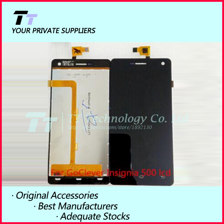Original For GoClever Insignia 500 LCD Display + Digitizer Touch Screen Replacement Cell Phone Parts Free shipping goclever insignia 550i touch screen
