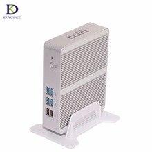 Безвентиляторный HTPC, N3050 Intel Celeron Dual Core N3150 Quad Core Mini PC, 4 * USB 3.0, HDMI, LAN, VGA, 300 М WI-FI, Маленький Компьютер, Тонкий Клиент