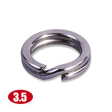 10 Buah Ukuran 3.5 Mm Stainless Steel Heavy Duty Split Cincin Countbass Memancing Umpan Terminal Tackle Cincin Datar(China)