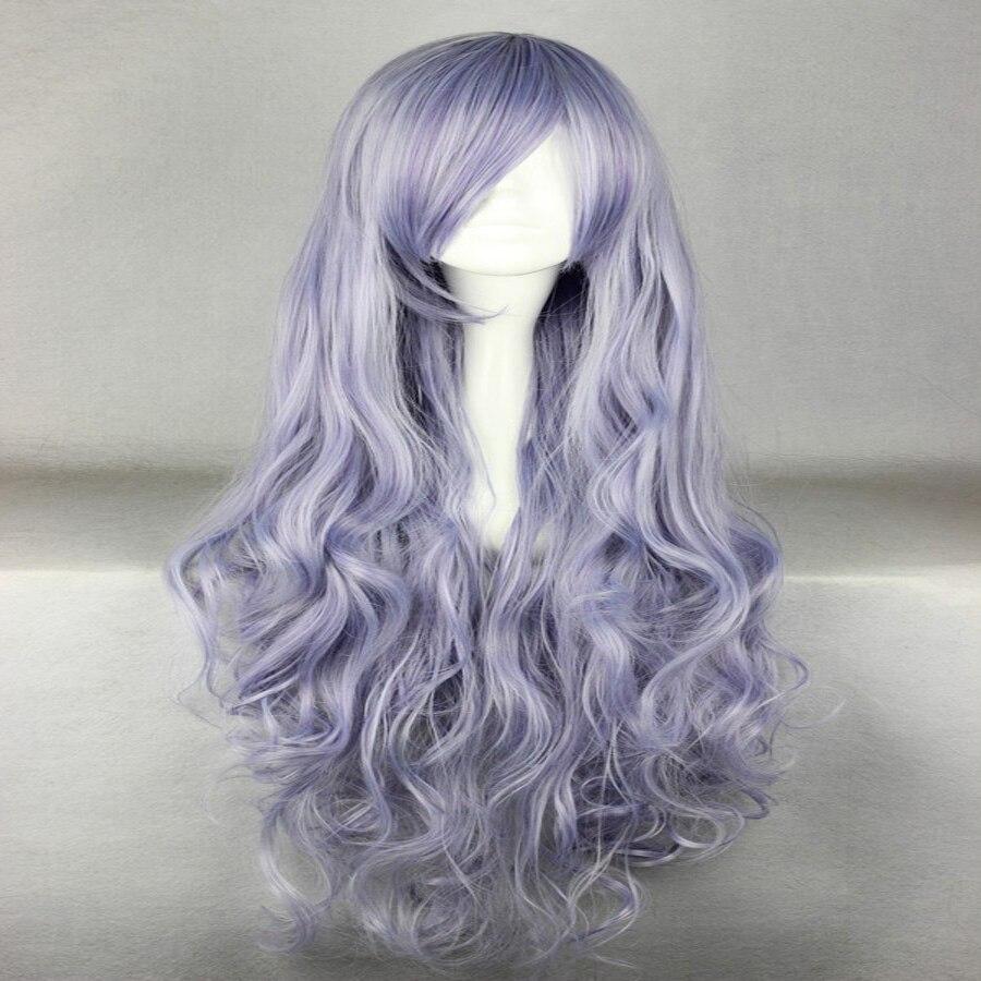 HAIRJOY Synthetic Hair Zipper 70cm Long Wavy Harajuku Lolita Cosplay Wig 18 Colors Available 101