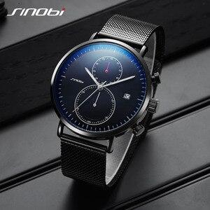 Image 1 - SINOBI 2020 New Multifunction Men Watch Fashion DIY Luminous Quartz Watch For Men Male Casual Sport Chronograph Stop Watch Clock