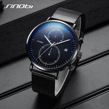 Sinobi 2020 nova multifunction men assista moda diy luminoso relógio de quartzo para masculino casual esporte cronógrafo parar relógio