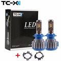 TC-X For Skoda Octavia A5 FL Octavia A5 Car headlights H7 LED Conversion Kits with Adapter base  7000LM 6000k Super Bright White