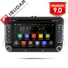 Isudar 2 Din Auto Radio Android 9 Per VW/Golf/Tiguan/Skoda/Fabia/Rapid/ sedile/Leon/Skoda Auto Multimedia Video Player DVD DVR GPS