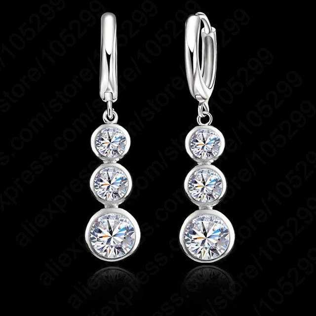 New Arrival Good Selling 925 Sterling Silver Earring Round Pendant For Women Ladies Good Cubic Zirconia Crystal Jewelry
