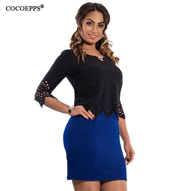COCOEPPS 6XL del merletto di Grande Formato Delle Donne del Vestito ufficio  vestito 2 pezzi Slim 1eac5bae16a