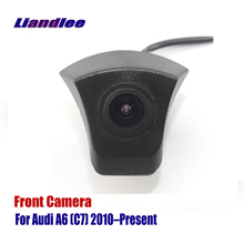 Liandlee AUTO CAM Car Front View Camera For Audi A6 (C7) 2010-Present 2012 2013 2014 ( Not Reverse Rear Parking Camera ) liandlee car front view camera auto cam not reverse rear parking camera for toyota auris 2012 2018 2013 2014 2015