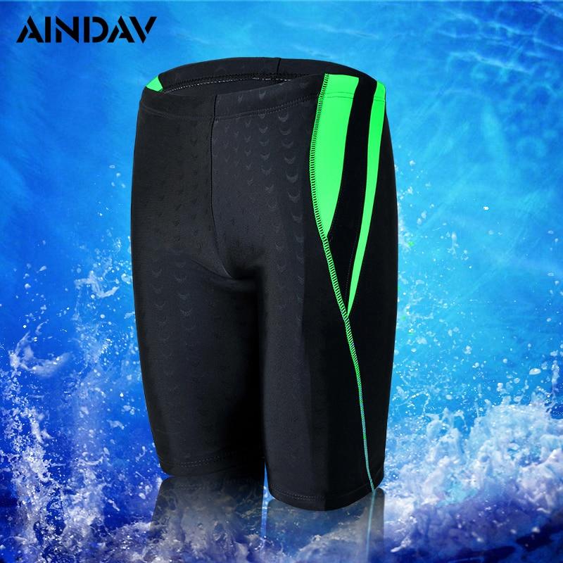 2019 New Fifth Pants Swimwear Men Professional Swimming Shorts Boys Mens Swim Trunks Swimsuit Beach Briefs Zwembroek Sunga