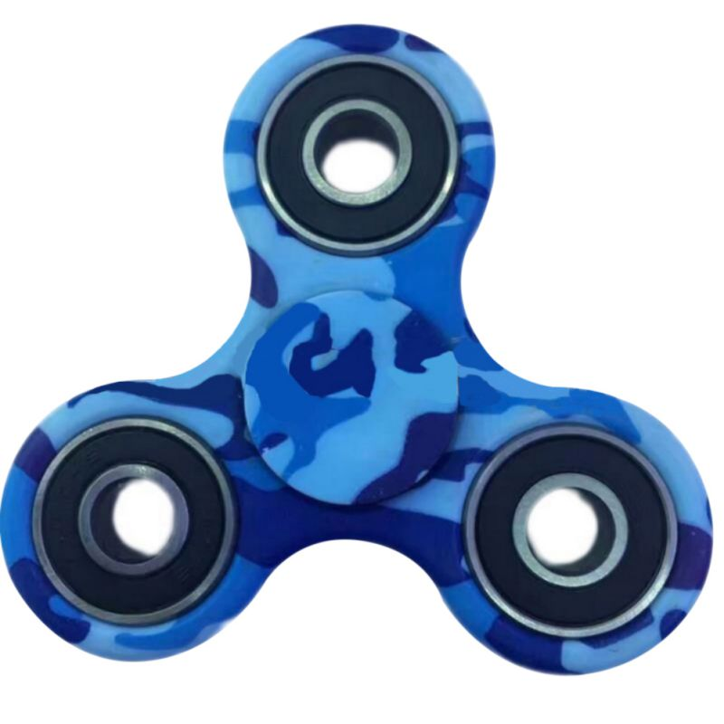 Top Spinner Toy Camouflage Hand Spinner Metal EDC Tri-Spinner Bearing Fidget Finger Kids Adult Focus Creative Funny Spinners