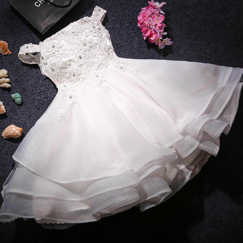 ขายร้อนสีขาวลูกไม้ลูกปัดชุดสาวดอกไม้สำหรับงานแต่งงานบอลชุดปิดไหล่ชุดศีลมหาสนิทชุดศีลมหาสนิทครั้งแรก