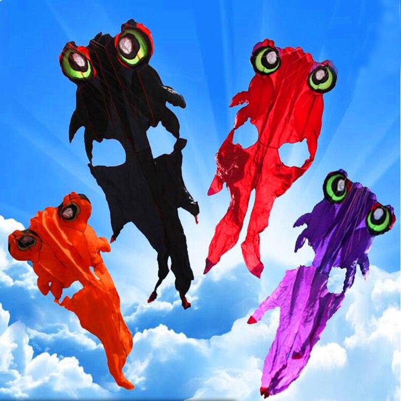 Livraison gratuite 4.2 m poisson doux cerf-volant nylon ripstop jouets de plein air cerfs-volants bobine sac weifang arc-en-ciel set chaussette vent vliegers girouette