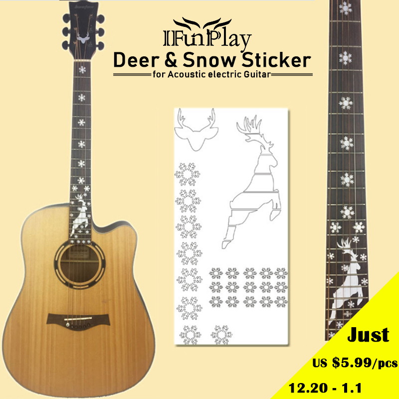 Hot Sale Hot Electric Acoustic Guitar Stickers Bass Inlay Decal Ultra Thin Fretboard Sticker For Guitar Accessories Work Wear & Uniforms
