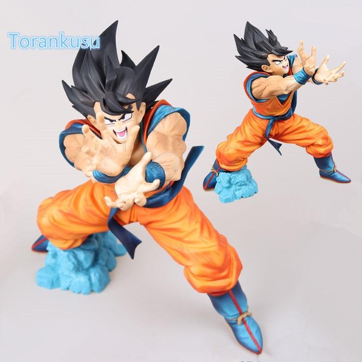Dragon Ball Z Action Figure Son Goku Original Banpresto MSP PVC Figure Dragon Ball Kai Kamehameha Model Toy Figuras MSP01