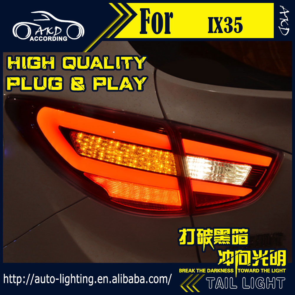 AKD Car Styling Tail Lamp for Hyundai IX35 Tail Lights New Tuscon LED Tail Light LED Signal LED DRL Stop Rear Lamp Accessories [ free shipping ] brand new led rear light led back light benz style tail lamp for hyundai elantra 2012