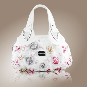 ladies hand bag white Floral women Top-Handle Bags female tote bags for women purses and handbags Hobos women leather handbags