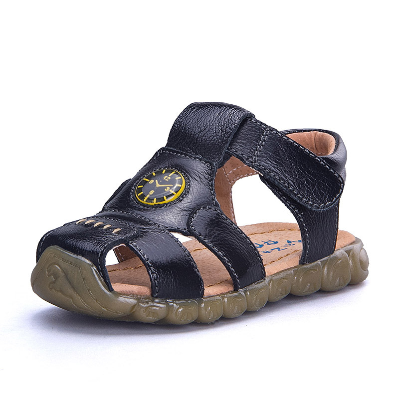 Genuine Leather Baby boys Sandal Children Boy Shoes Student Teenager Cowhide Sandals Kids Beach Shoes Brown Yellow White Black in Sandals from Mother Kids