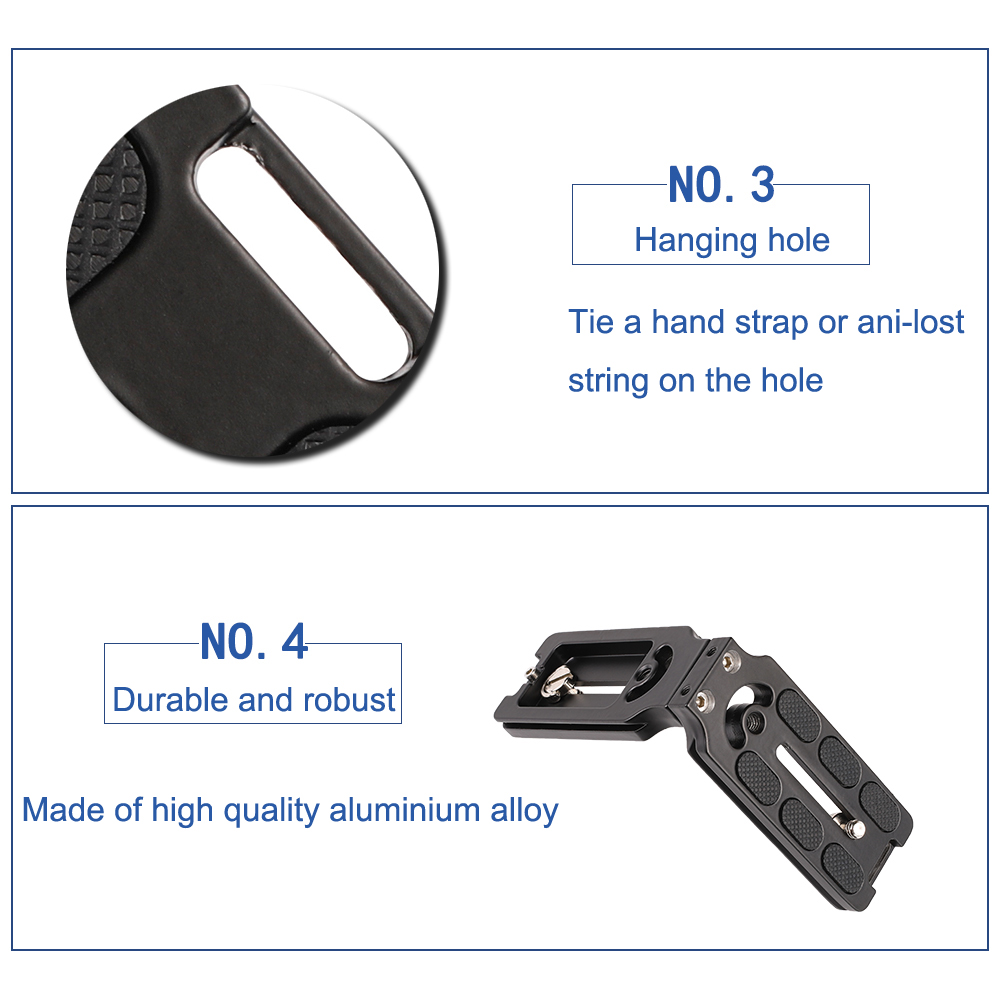 Image 5 - Kaliou Photo Studio Accessories Hand Grip Support Quick Release Plate L Grip L Plate Bracket for Camfi Camera-in Photo Studio Accessories from Consumer Electronics