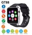 Gt88 bluetooth smart watch suporte sono monitor de freqüência cardíaca à prova d' água tf/cartão sim smartwatch para iphone 5s 6 s 7 para samsung S7