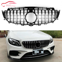 Front Grille Suitable for Mercedes W117 A W176 W177 C class W204 W205 E W207 W212 W213 GLC X253 GT Style Grille GTR Car Styling