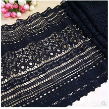 Black Water Soluble Hollow Lace Trimming Polyester Fabric Sewing Accessories For Dress Applique The Cloth Decoration