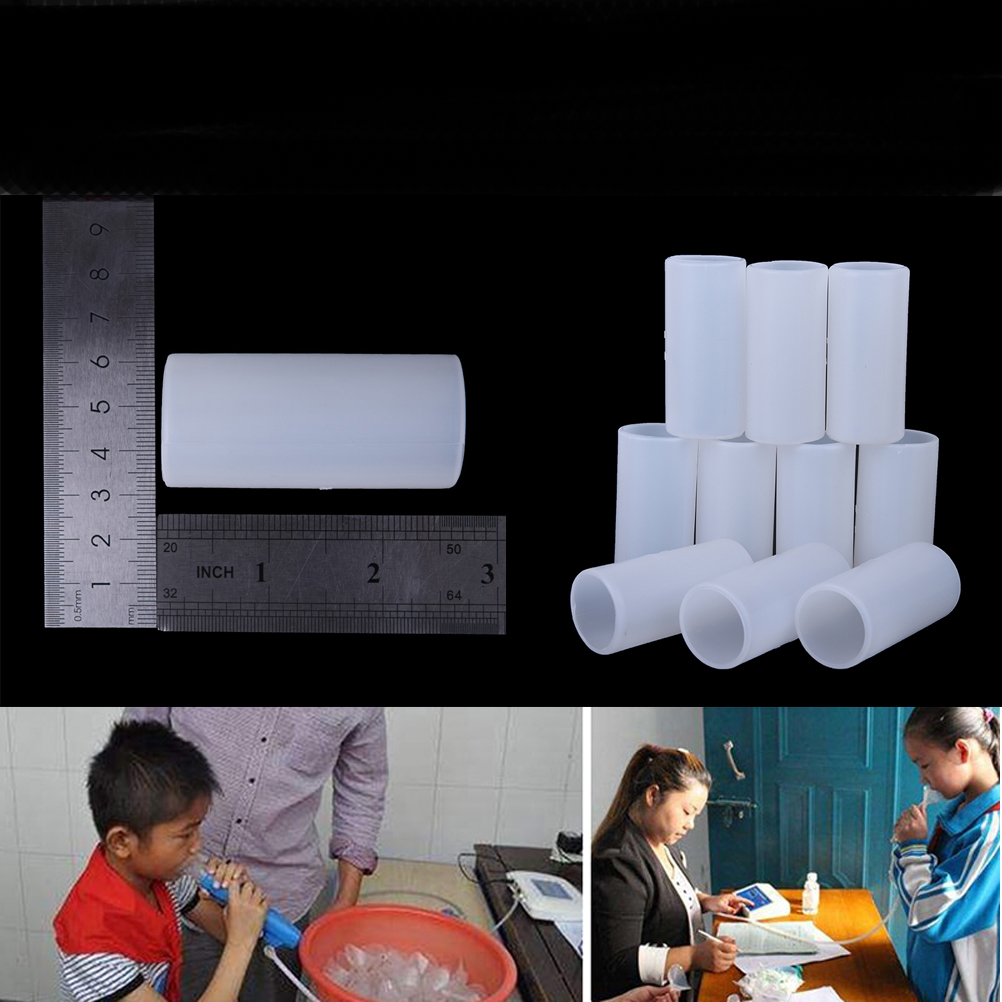 50pcs / Pack For Digital Spirometer Lung Breathing Diagnostic Spirometry Disposable Cardboard Mouthpieces