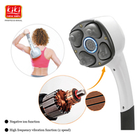 KIKI Beauty world New style 4 heads massager stick with ion 2 speed settings body massager hot sale deep tissue massager