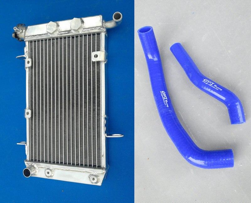 Лидер продаж, алюминиевый радиатор и шланг для Suzuki 2003-2008 LTZ400 KFX400 DVX400 LTZ/KFX/DVX 400 подходит для 2003 2004 2005 2006 2007