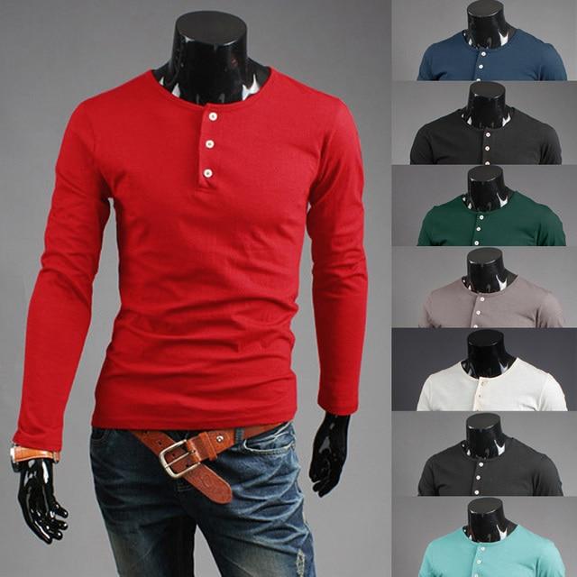 Aliexpress.com : Buy Fashion Mens Pullover Shirts Long Sleeve Mens ...