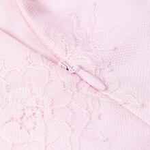 INDRESSME Winter New Sexy Ladies Temperament Lace Stitching Slim Waist Strap Short Dress