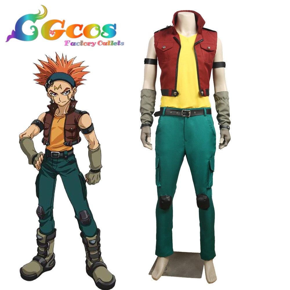 CGCOS Coplay vêtements partie jeu de rôle uniforme Cosplay Costume yu-gi-oh! Robe d'anime de Costume de corbeau de Yugioh 5D's personnalisée